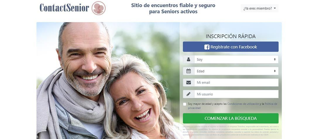 CONTACT SENIOR, portal gratuito para conocer gente madura