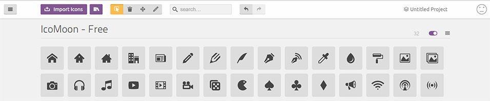 IcoMoon y su plataforma de edición de iconos