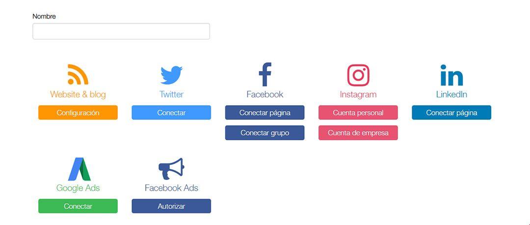 Paso inicial: conecta tu Blog y Redes Sociales a Metricool