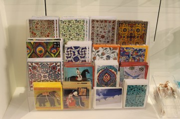 Gift cards with images from the AKM collection.