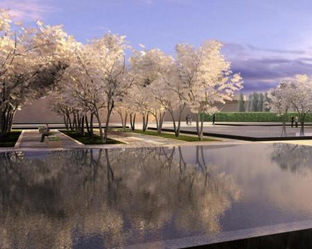 Constellations - Aga Khan Park, Toronto – Echoes of Paradise - Springtime at the Park of the Aga Khan Museum and Ismaili Centre, image courtesy of Imara Wynford Drive