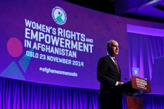 Symposium on Women's Rights and Empowerment in Afghanistan - United States Senator Robert P. Casey, Jr. (Photo: Norway MFA/ Kilian Munch)