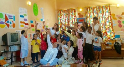 Fanous visits the Early Learning Centre , Mwanza , Tanzania