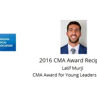Latif Murji: Canadian Medical Association Award for Young Leaders (Student)