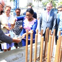 Princess Zahra Aga Khan attends the ceremony, launching the expansion plans of the Aga Khan Hospital in Tanzania
