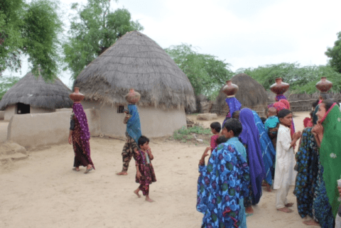 Villagers Dr. Gulshan Harjee supported project