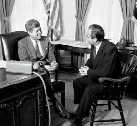 With President John F. Kennedy, Washington, DC, 1961. Photo: Vanity Fair