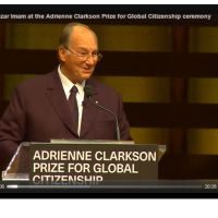 Video: Speech by His Highness the Aga Khan, accepting the Adrienne Clarkson Prize for Global Citizenship
