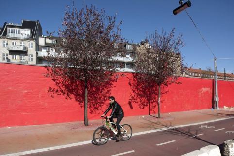 Bike path. Aga Khan Award for Architecture 2016 Winner: Superkilen, Copenhagen, Denmark