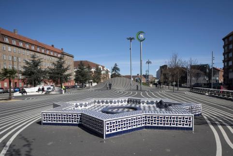 Moroccan fountain in the Black Market. Aga Khan Award for Architecture 2016 Winner: Superkilen, Copenhagen, Denmark