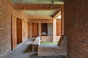View of dormitories area. Aga Khan Award for Architecture 2016 Winner: Friendship Centre Gaibandha, Bangladesh
