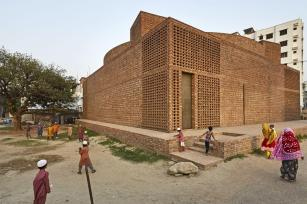 A cylendrical volume. Aga Khan Award for Architecture 2016 Winner: Bait ur Rouf Mosque Dhaka, Bangladesh