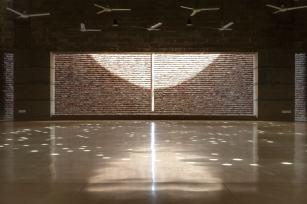 A gap in the brick wall. Aga Khan Award for Architecture 2016 Winner: Bait ur Rouf Mosque Dhaka, Bangladesh