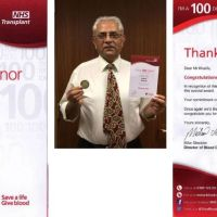 Hakim Khalifa, member UK Jamat, helps save countless lives by donating 100 pints of blood