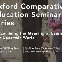 Learning in an uncertain world: University of Oxford and Aga Khan Foundation launch 8 weeks online seminar series
