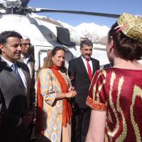 Princess Zahra Aga Khan on a three day visit to Tajikistan