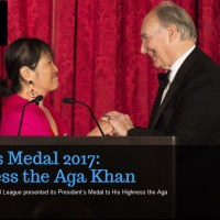 The Architectural League presents its President's Medal to His Highness the Aga Khan with profound gratitude and humility