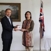 British High Commissioner to Pakistan presents Order of the British Empire award to Nishat Riaz of Hunza, Gilgit-Baltistan