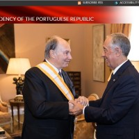 [Photo Gallery] Presidency of the Portuguese Republic: President Marcelo Rebelo de Sousa honors His Highness Prince Karim Aga Khan with the Grã Cruz da Ordem de Liberdade