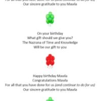 """Happy Birthday Mawla"" new song by Zahira Dhalwani"