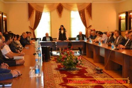 İsmayıllıda akademik Ramiz Mehdiyevin kitabının təqdimatı olub