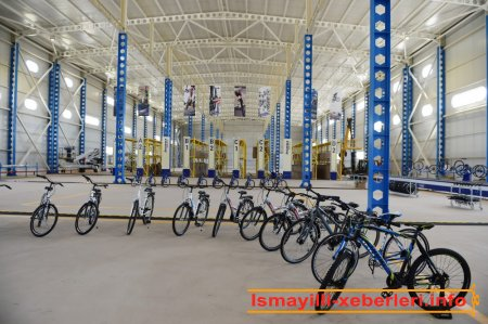 Prezident İlham Əliyev İsmayıllıda velosiped istehsalı zavodunun açılışında iştirak edib