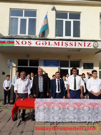 """Qalacıq kənd tam orta məktəbində """"Bilik günü"""" qeyd olunub"""