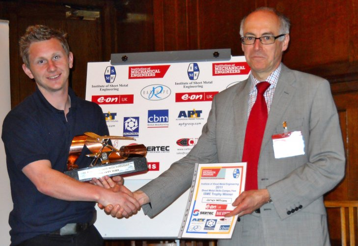 2011 Overall Winner James Williams Babcock with Colin Brown ImechE