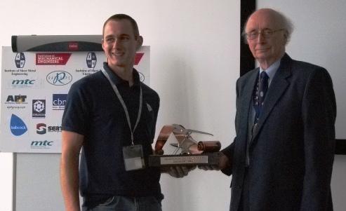 ISME Skills 2013 overall winner Struan Robertson with ISME President John Davis