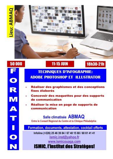 Du 11 au 15 juin, formation en infographie à ABMAQ