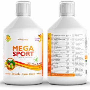 Amino acids and BCAA mega sport vitamin drink