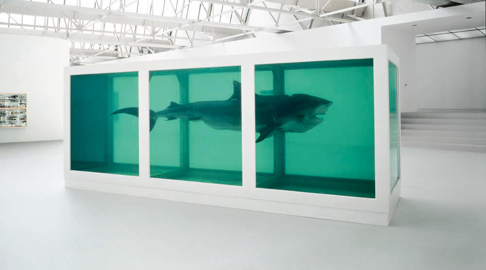 The Physical Impossibility of Death in the Mind of Someone Living (1991), de Damien Hirst