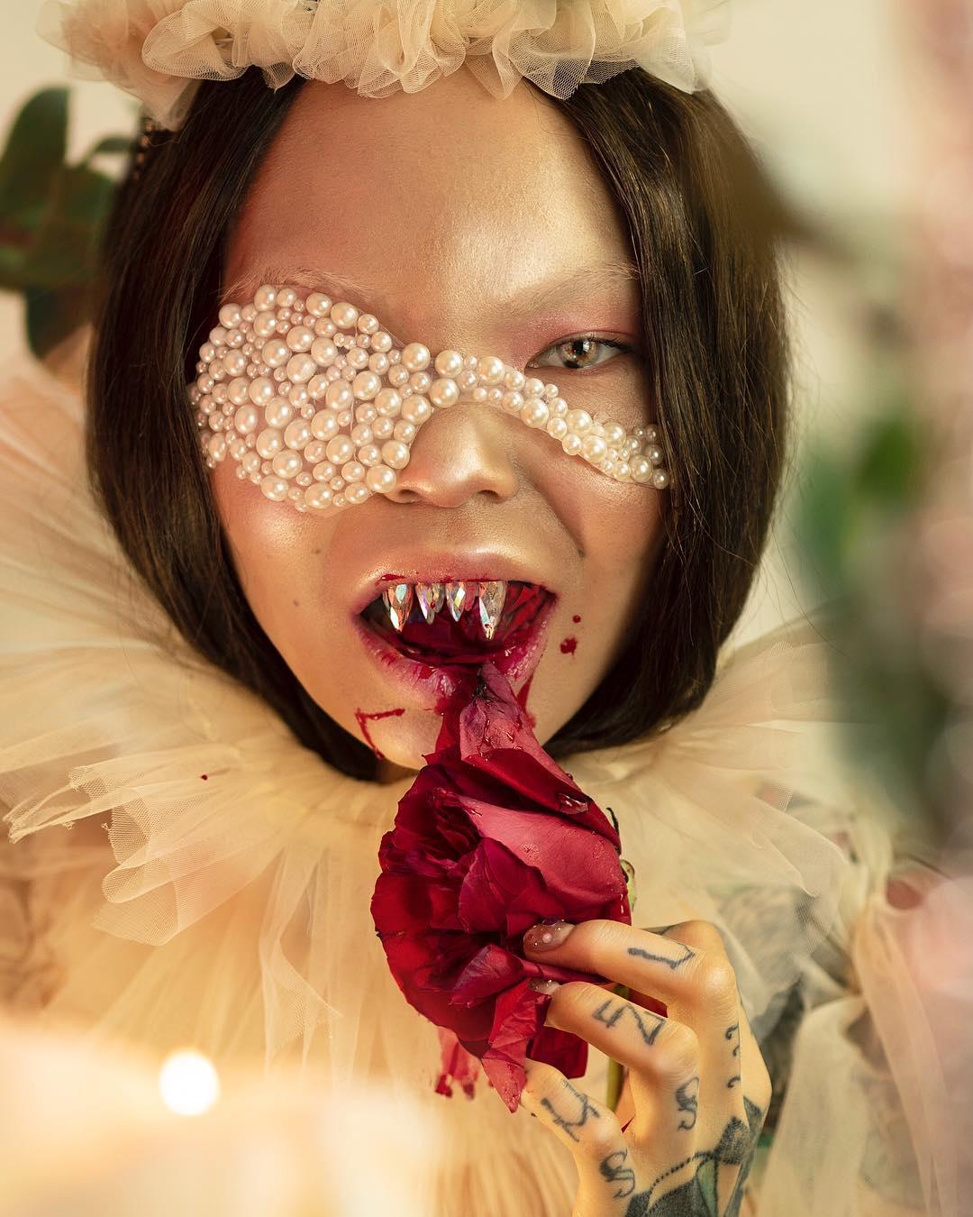 Conoce a Aryuna Tardis, la makeup artist que revoluciona Instagram con sus looks extremos