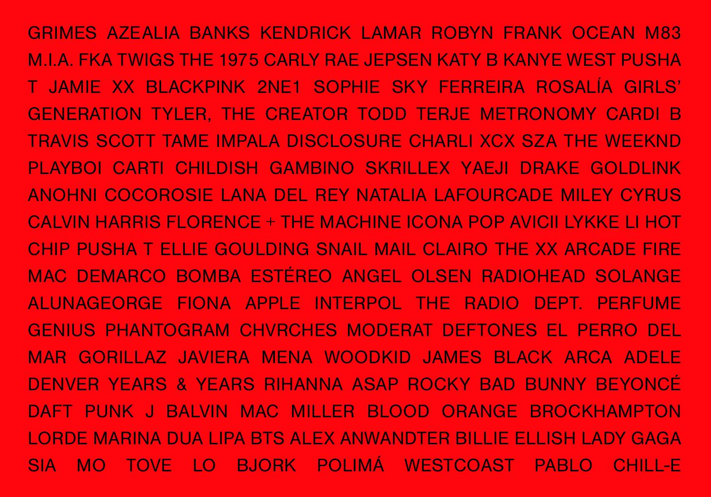 Las 200 canciones que definieron la década de los 2010