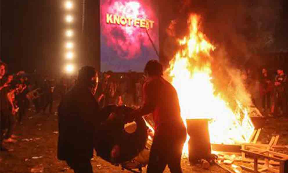 VIDEO: Motín en festival Knotfest México luego de que Slipknot y Evanescence cancelan sus sets