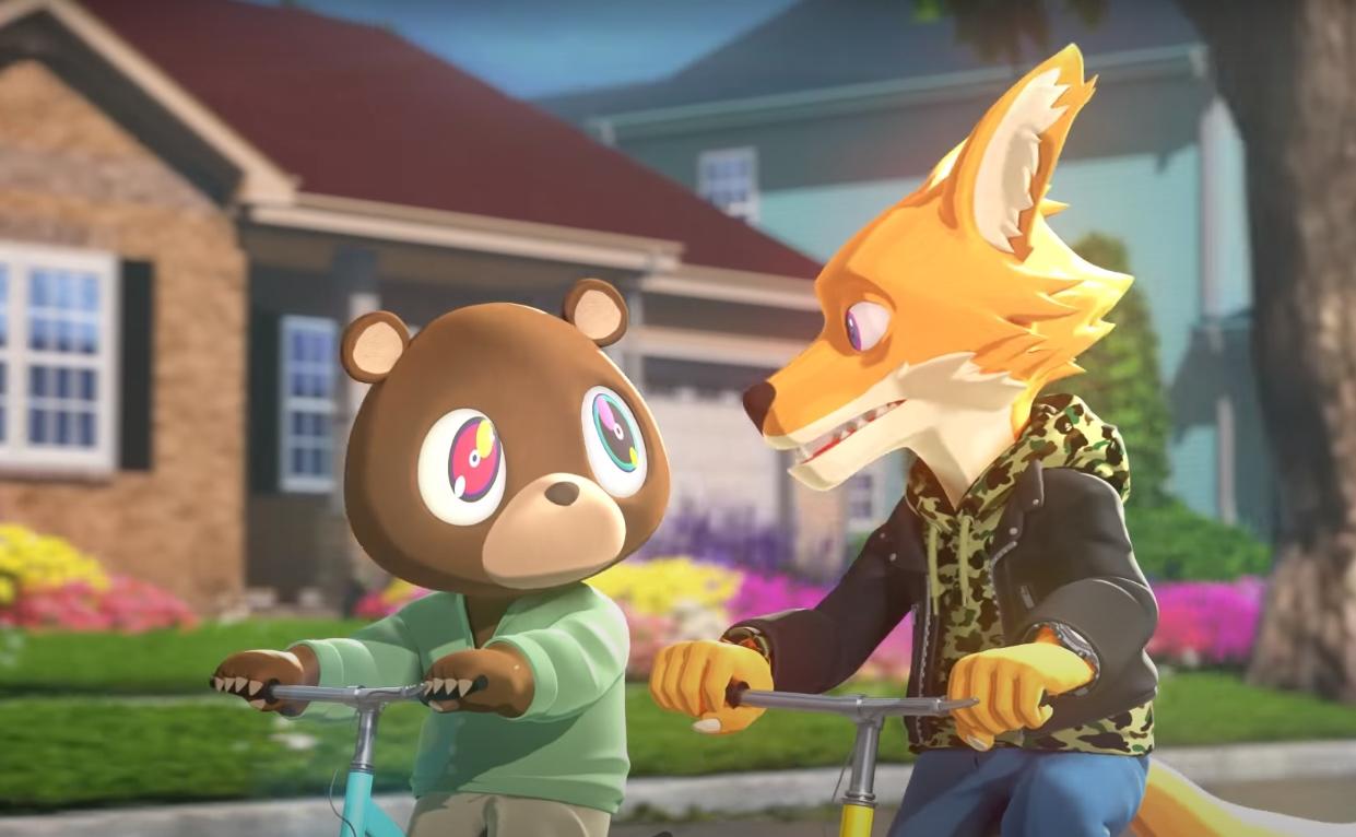 Kanye West y Kid Cudi harán una serie animada inspirada en Kids See Ghosts