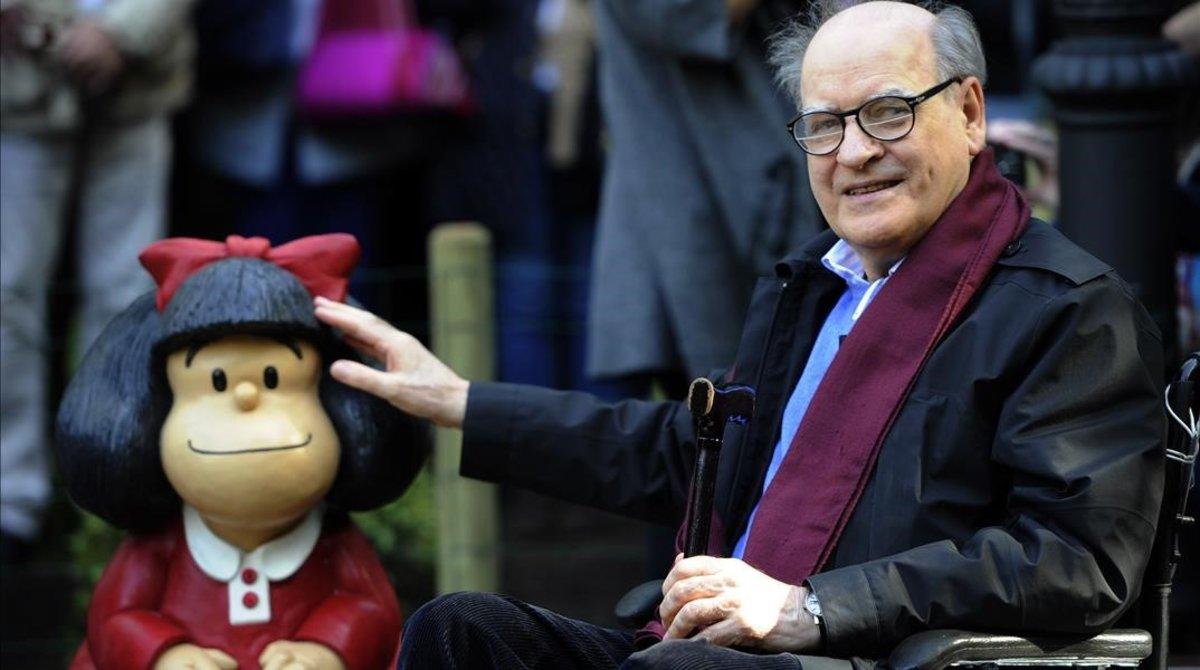 """Quino, el artista argentino y padre de """"Mafalda"""", murió a los 88 años"""
