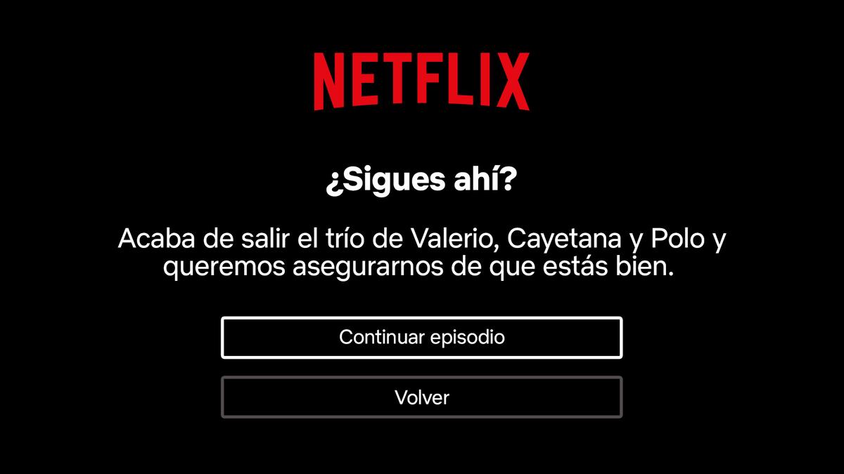 """Netflix te dará la posibilidad de desactivar el molesto """"¿sigues ahí?"""" muy pronto"""