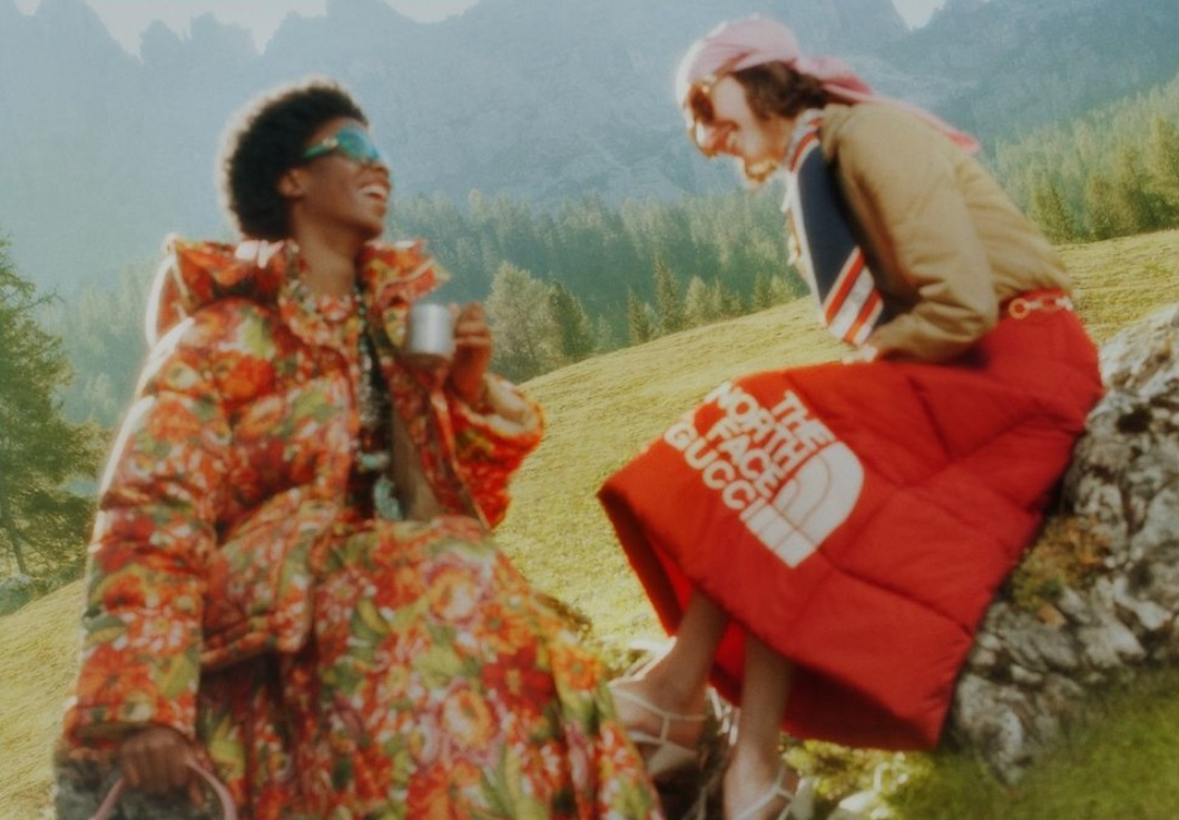 The North Face x Gucci, la colección montañera con el glamour de las pasarelas