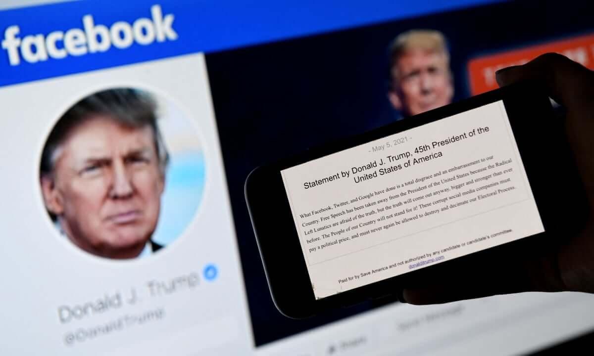 Facebook suspende a Donald Trump de la plataforma hasta 2023