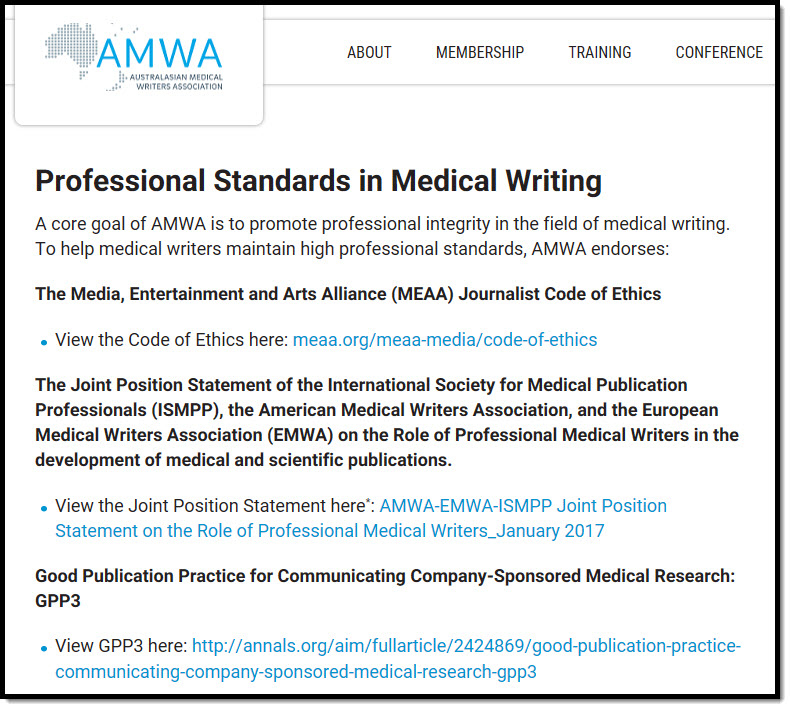 writing in the medical field