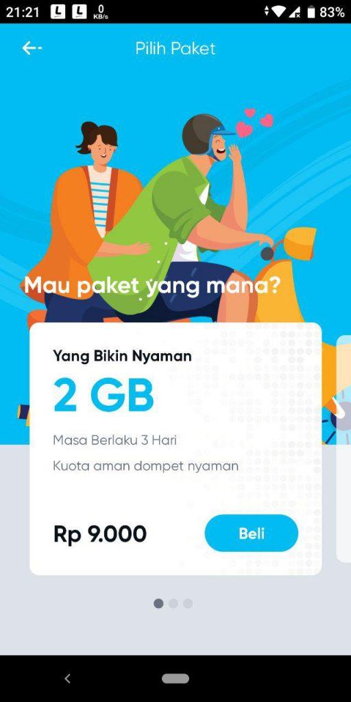 harga paket internet by.u