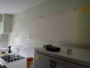 Goodbye Wall Cupboards, Hello Old Paint Schemes