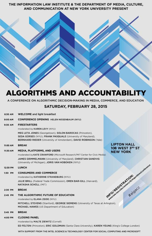 Algorithms and Accountability Conference