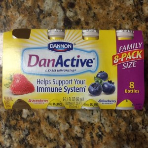 danactive warning nausea diarrhea in children