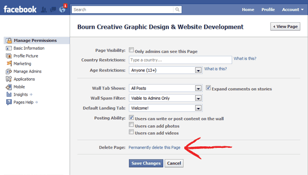 How to delete facebook page permanently with easy steps ccuart