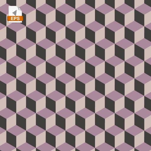 Isometric pattern made of cubes in pink shades, great to use as a background.