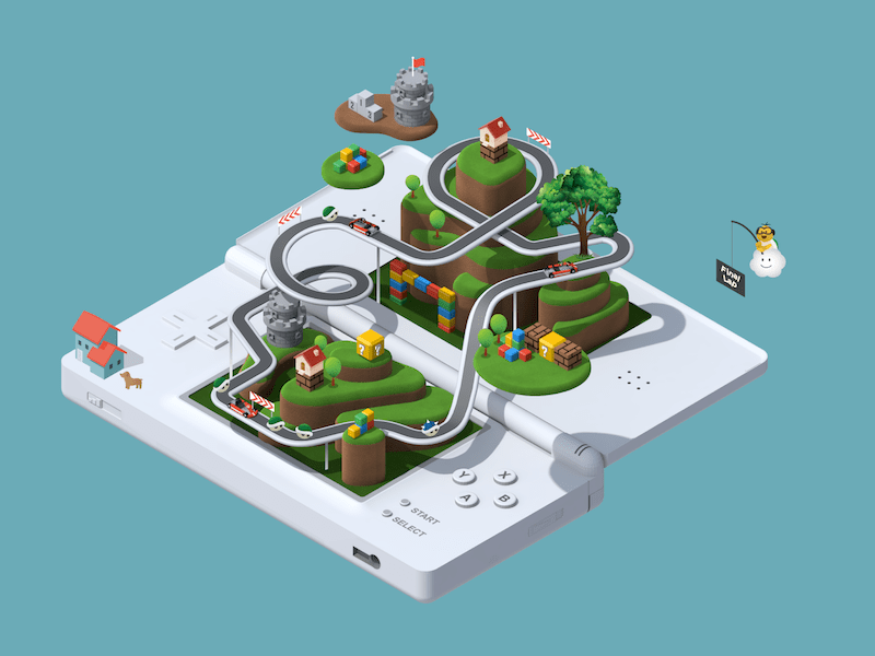 Nintendo game in isometric view
