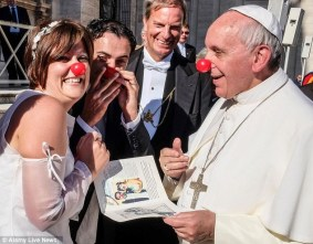 Pope clown nose