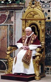 Benedict XVI in the chair